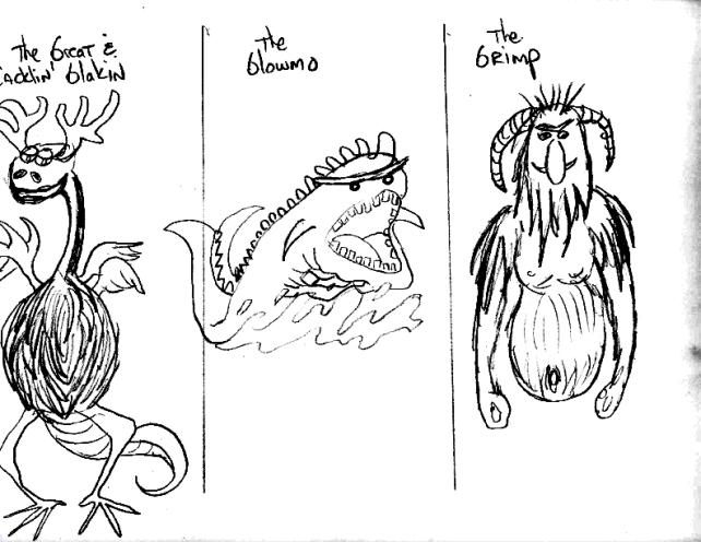 glakin, glowmo, grimp sketches